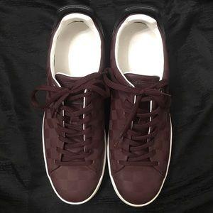 Louis Vuitton Damier Burgundy Frontrow Sneakers